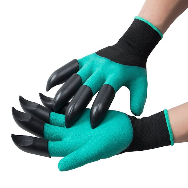 Gloves with claws on the end of the fingers