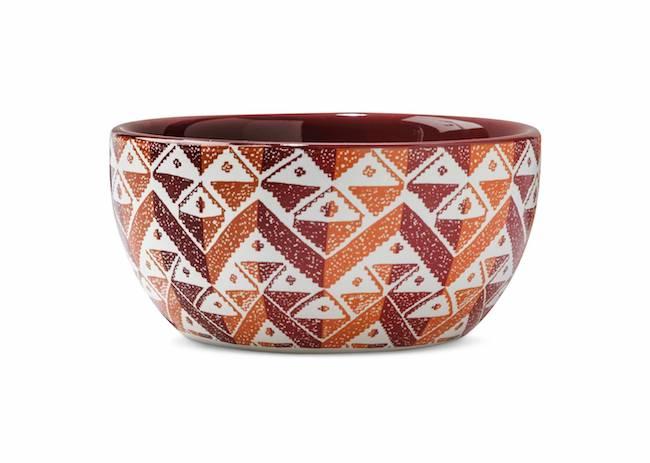 Decorative orange bowl