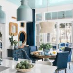 HGTV Dream Home 2020 - Dining room with shades of blue and white
