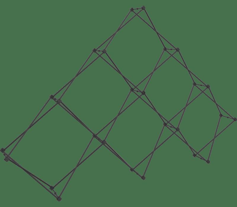 Xclaim 10ft. 6 Quad Pyramid Fabric Pop Up Display Kit 01