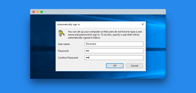 windows 10 auto login