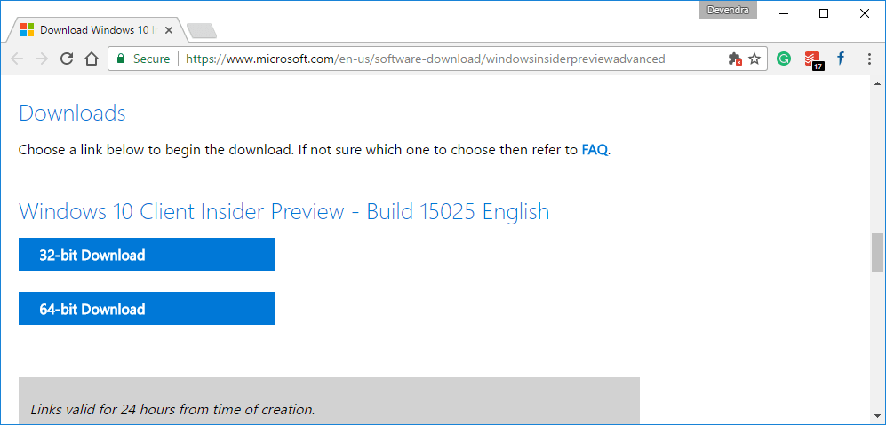 Windows 10 insider preview 17643 rs5 iso offline download links will be created for both 64 bit and 32 bit machines you need to download one according to your pc architecture how do i know which one i have ccuart Gallery