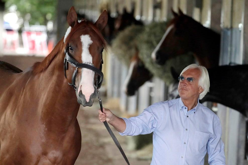 Trainer Bob Baffert with Justify