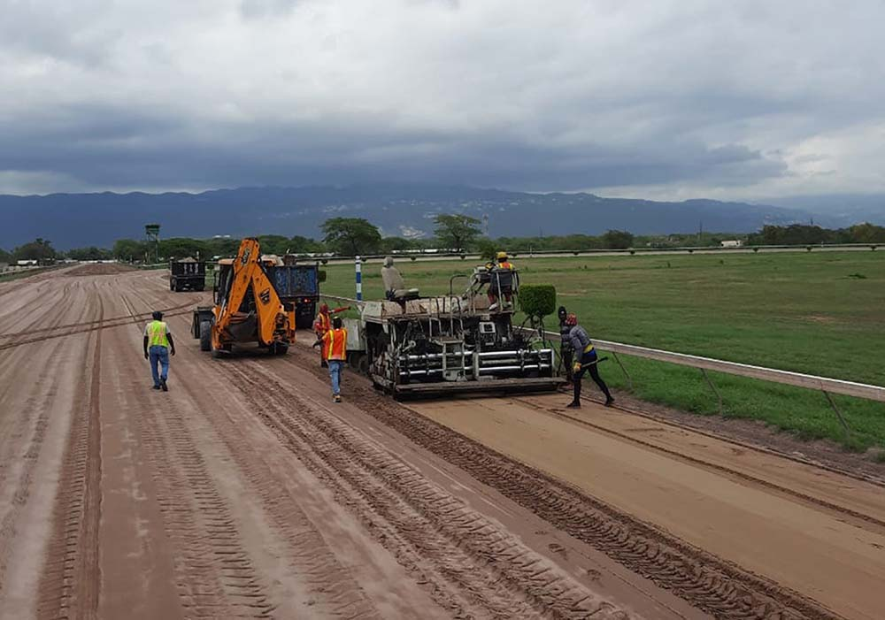 The track being worked on