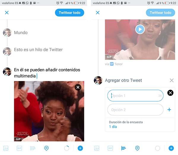 threads on Twitter
