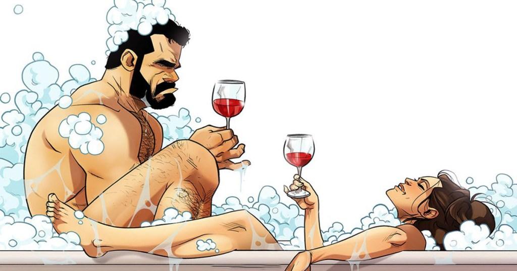 האיורים האלו אמנם על החיים של המאייר ואשתו, אבל אין זוג שלא יזדהה איתם!