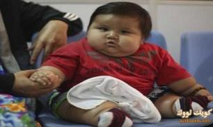أضخم رضيع في العالم في وزن طفل عمره 6 سنوات