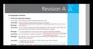تحميل ومشاهدة اجابات Work Book Revision A للثاني الثانوي