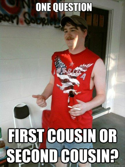 Image result for second cousin meme