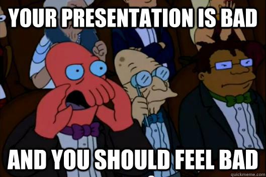 Image result for bad presentation memes