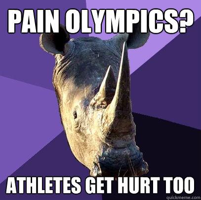 pain olympics athletes get