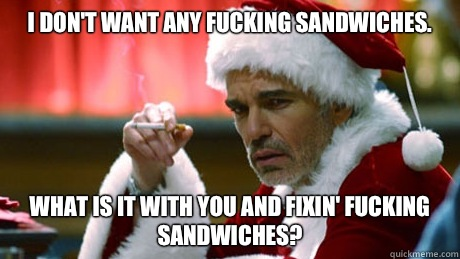 Image result for bad santa meme