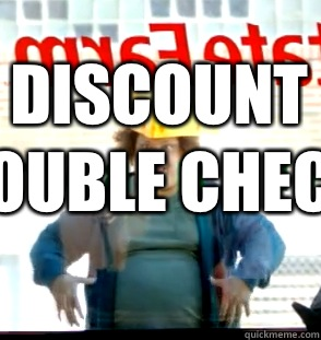 rawjas discount double check