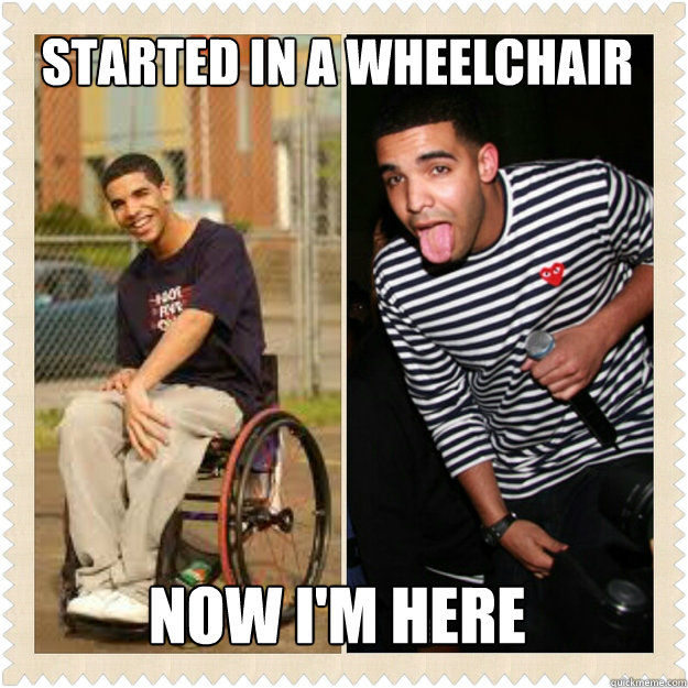 wheelchair jimmy meme counter high outdoor chairs started in a now i m here misc quickmeme