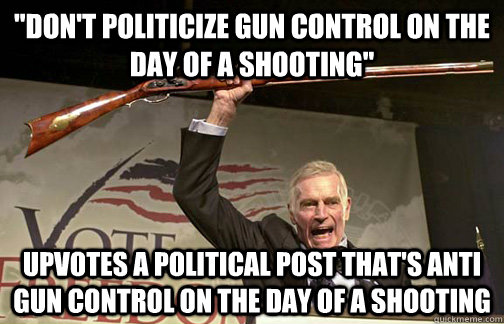 quotDon39t politicize gun control on the day of a shooting