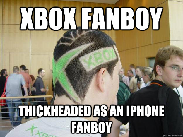 xbox fanboy thickheaded as