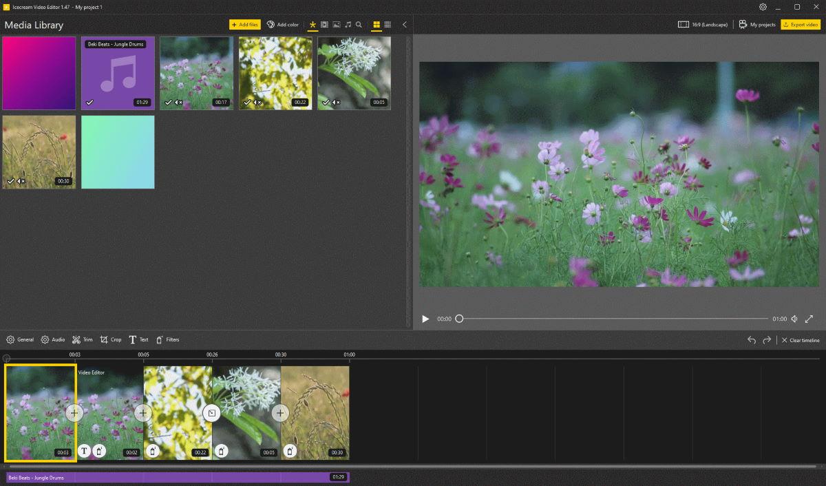 โปรแกรมตัดต่อวิดีโอ ฟรี! Icecream Video Editor ตัดต่อง่าย ๆ ในสไตล์หวานเย็น