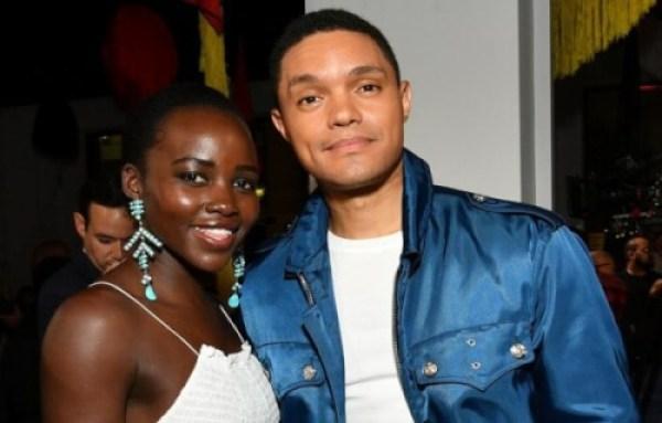 Lupita Nyongo and Trevor Noah