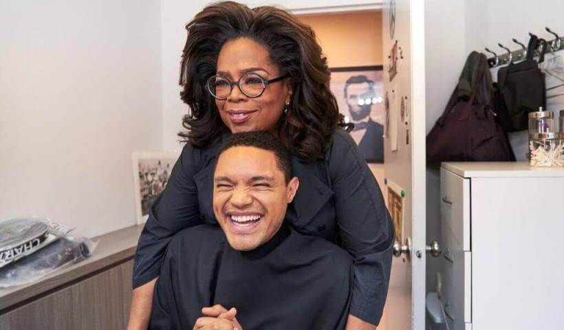 Oprah Winfrey and Trevor Noah