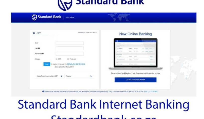 How to use Standard bank internet banking