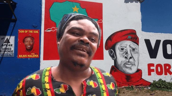 Portrait of Joseph Shabalala by Rasta the painter