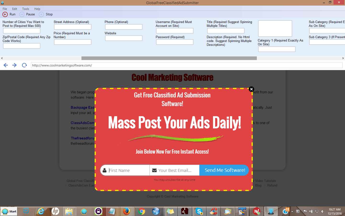 Global Free Classified Ad Submitter No More Ghosting of Ads