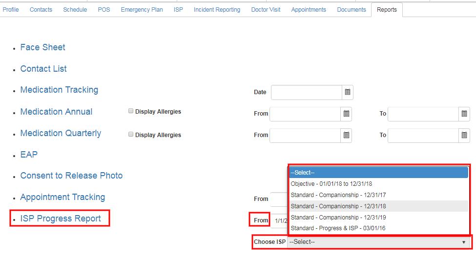 ISP print progress report