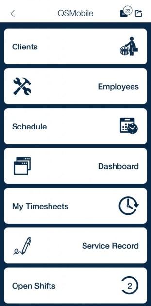 QSP mobile open shift module app