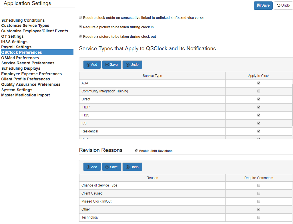 QSClock preferences settings