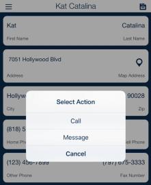 QSP Call Message Client Action