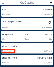 Client Phone Number