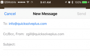 email employee or client using QSP mobile