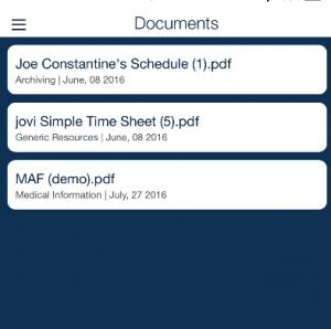 document storage QSP Mobile