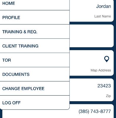 employee menu QSP Mobile