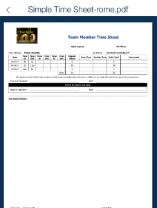 employee document storage QSP Mobile timesheets