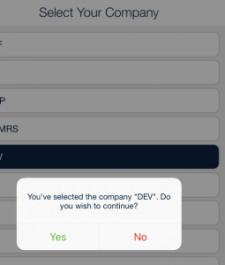 confirm company code - qsp mobile app