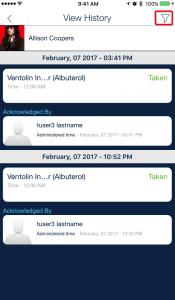 Medication history filter_qsp medication tracking app