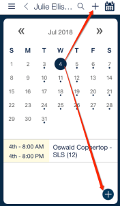 qsp mobile add new shift to schedule