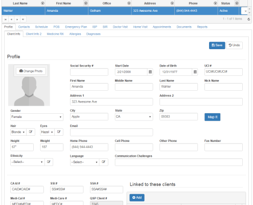 QSP Client profile data management