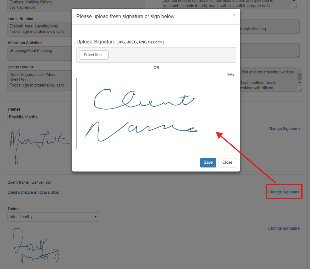 client training guide client signature - qsp software