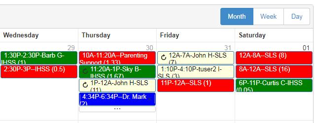 unassigned open scheduled shifts