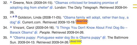 wikipedia dead link