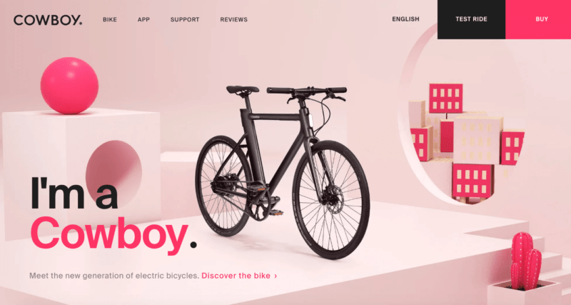 Light pink, hot pink, and black color palette for 2019 websites