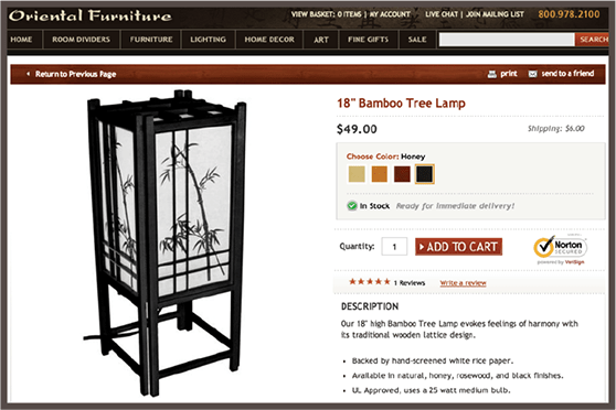 Oriental Furniture Test