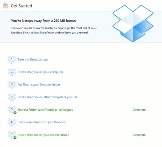 Dropbox Incentives Example