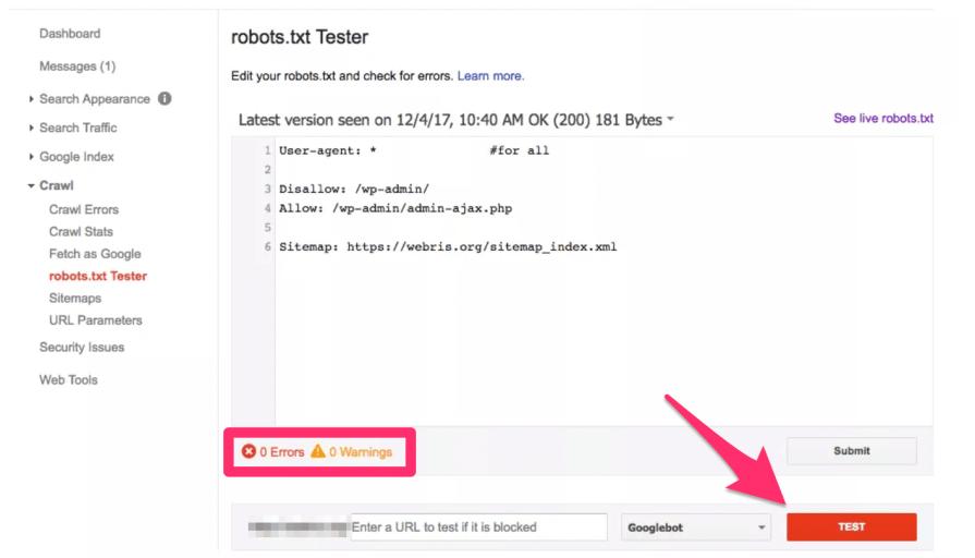 Robots.txt Test