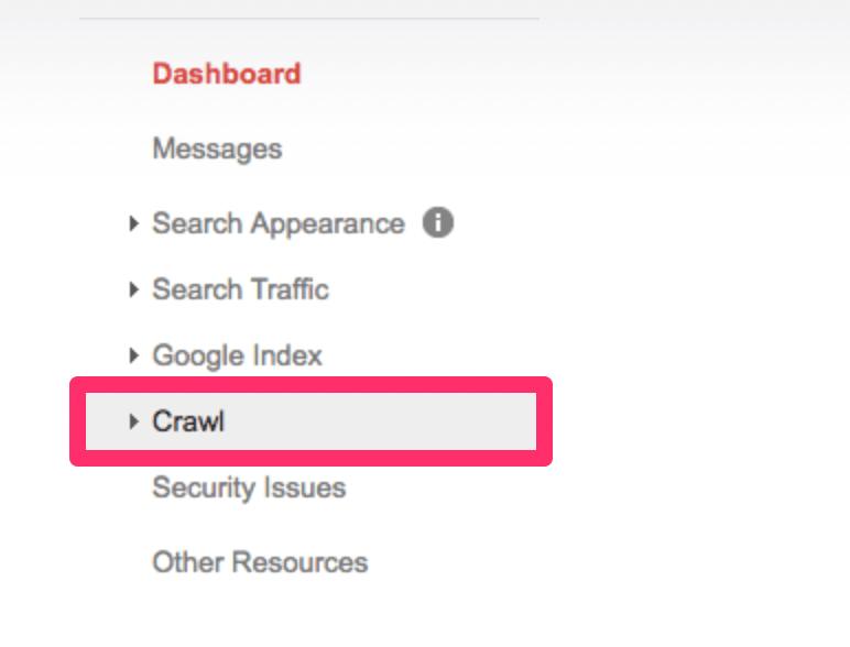 Webmaster Tools Crawl
