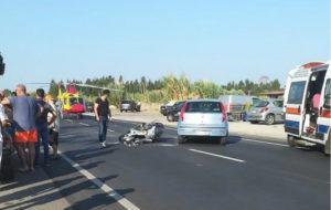 Scontro auto-scooter, muore un diciottenne