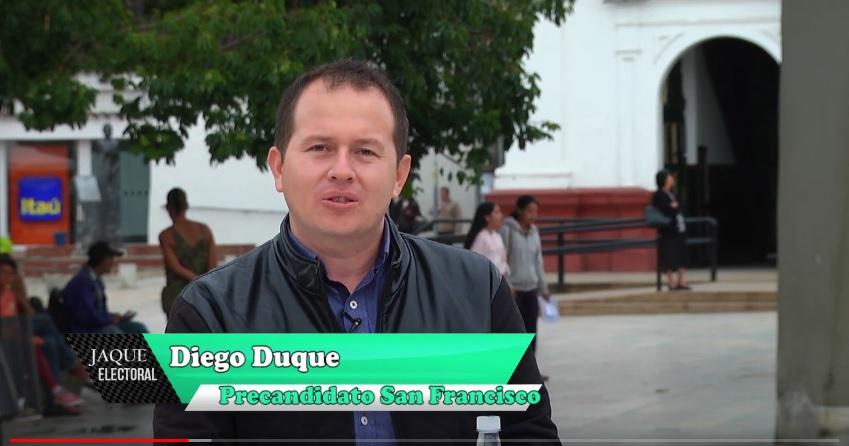 Jaque Electoral Diego Duque, precandidato alcaldía San Francisco, Antioquia