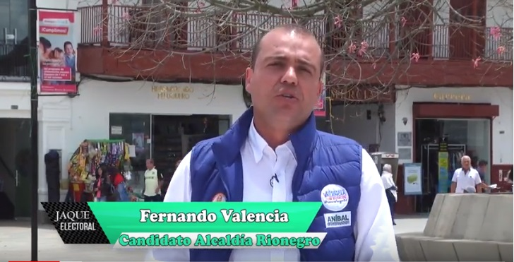 Fernando Valencia candidato alcaldía Rionegro 2020 – 2023